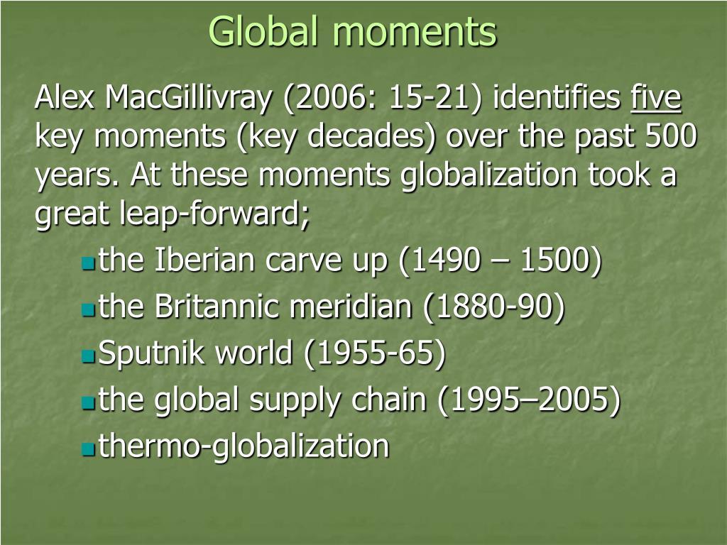 Global moments