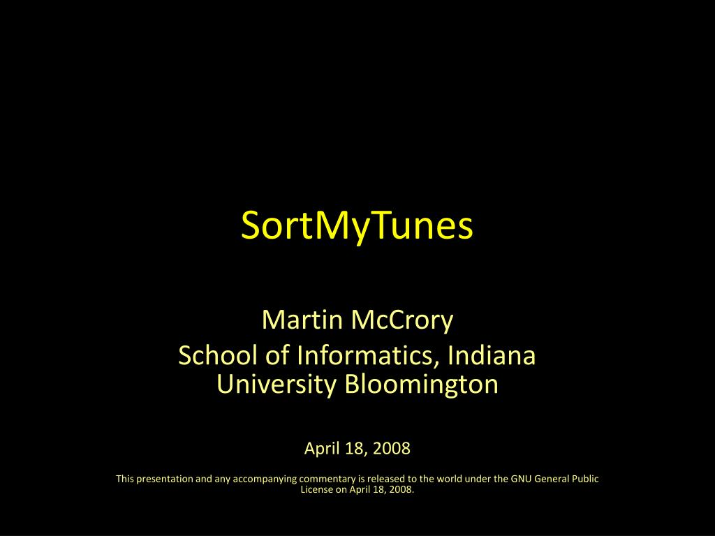 SortMyTunes