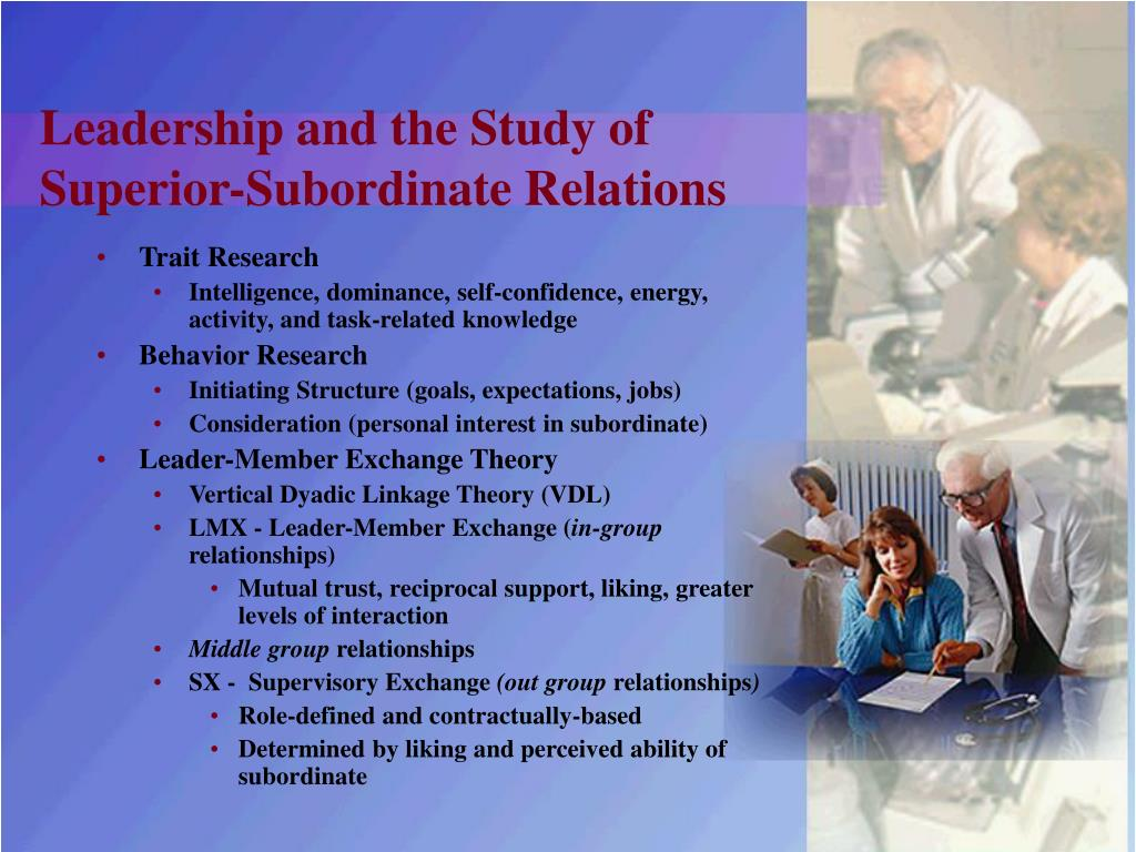 benefits of leaders maintaining friendships with subordinates Supervisor–employee relationship your responsibility to build and maintain a to transfer the individual to another supervisor who has a different leadership.