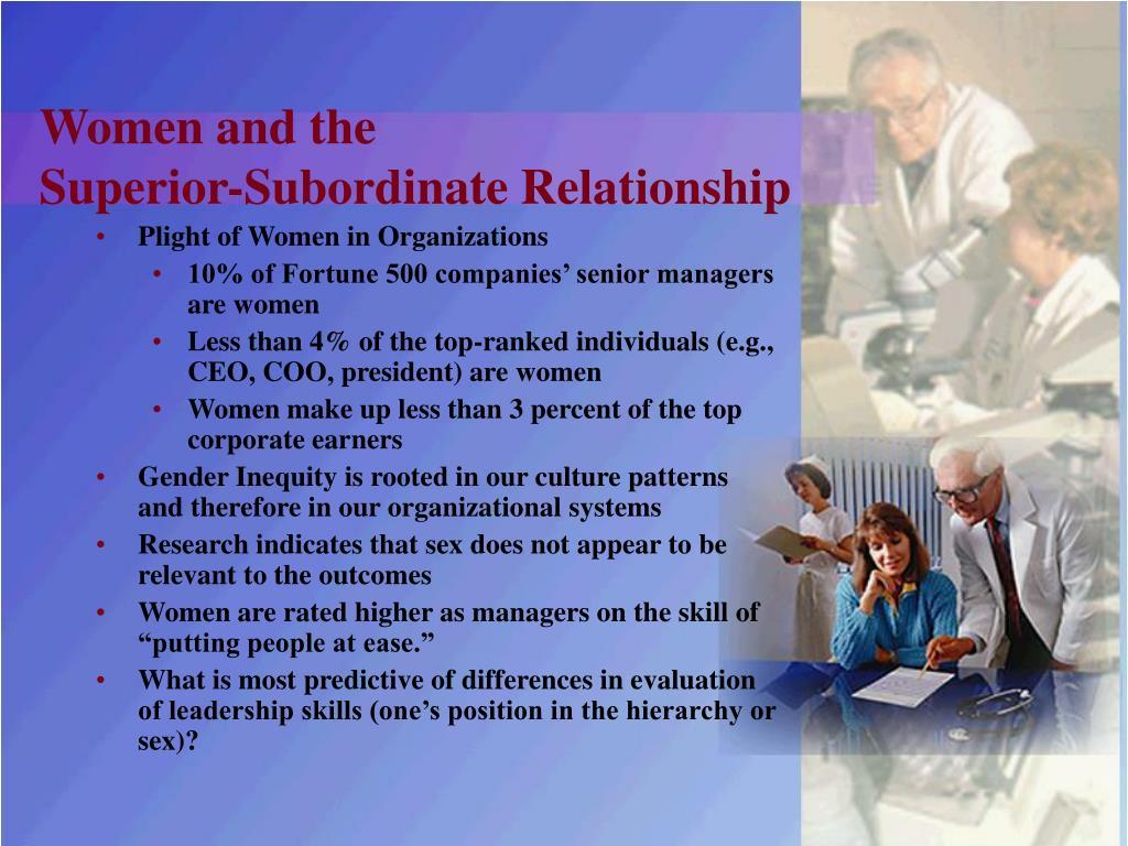 superior subordinate relationship definition male