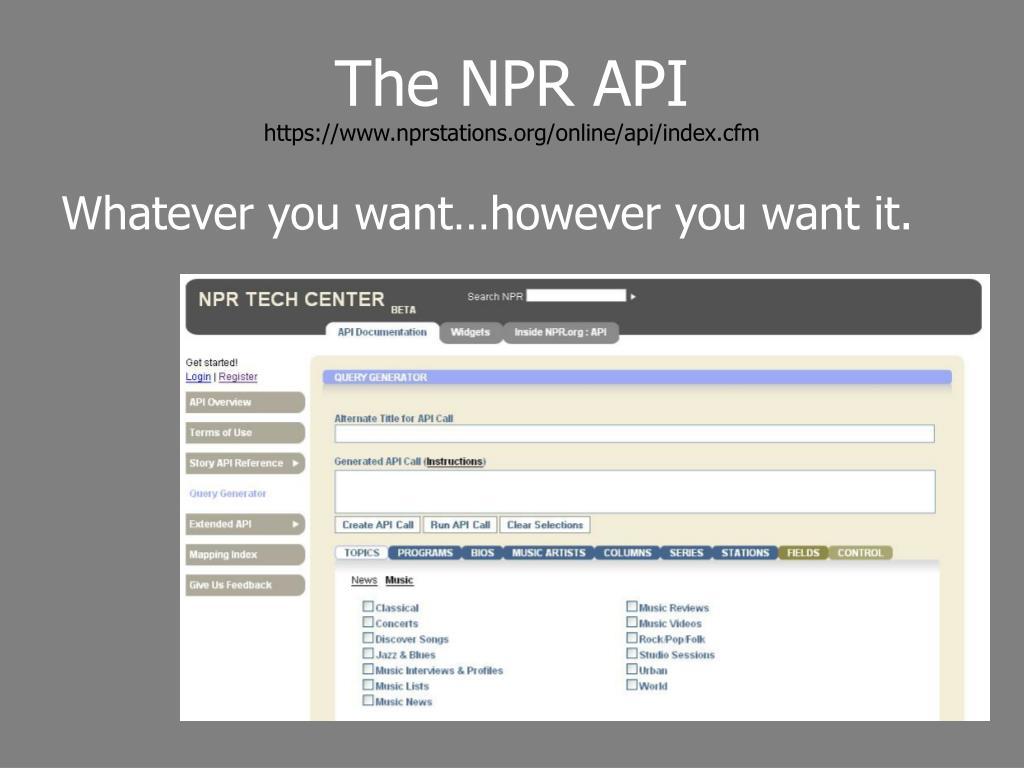 The NPR API