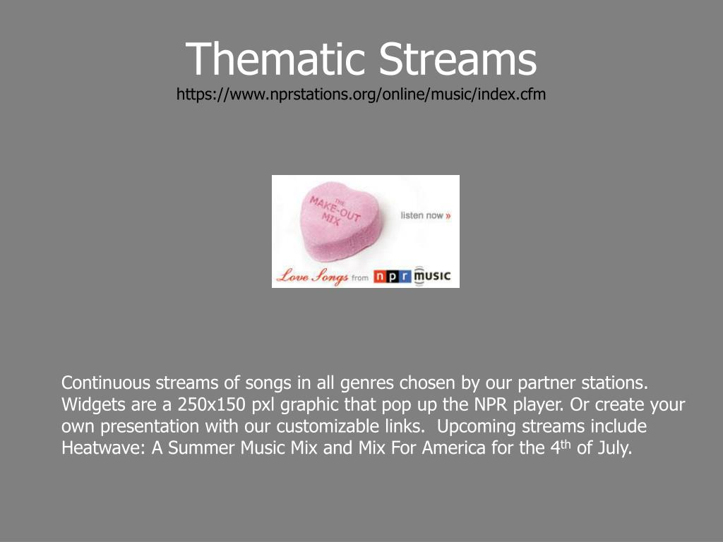 Thematic Streams
