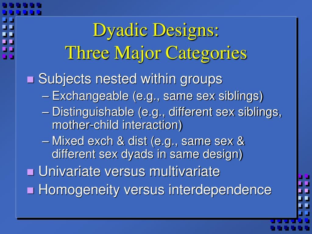 Dyadic Designs: