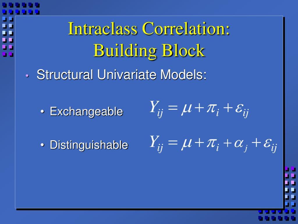 Intraclass Correlation: