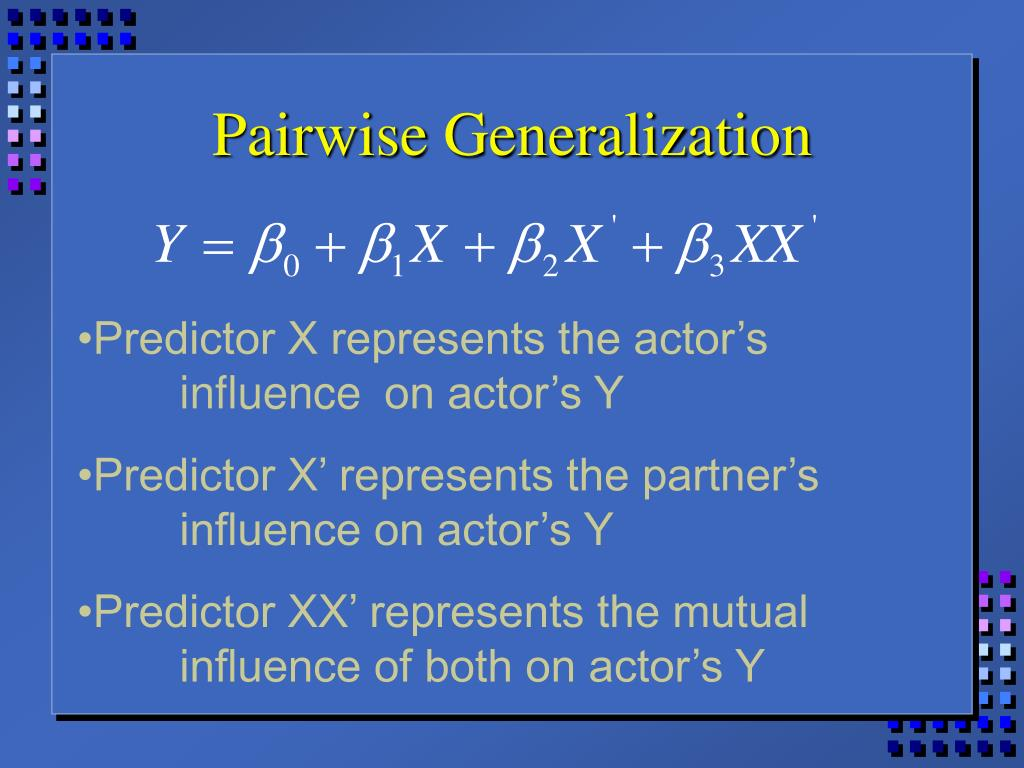 Pairwise Generalization