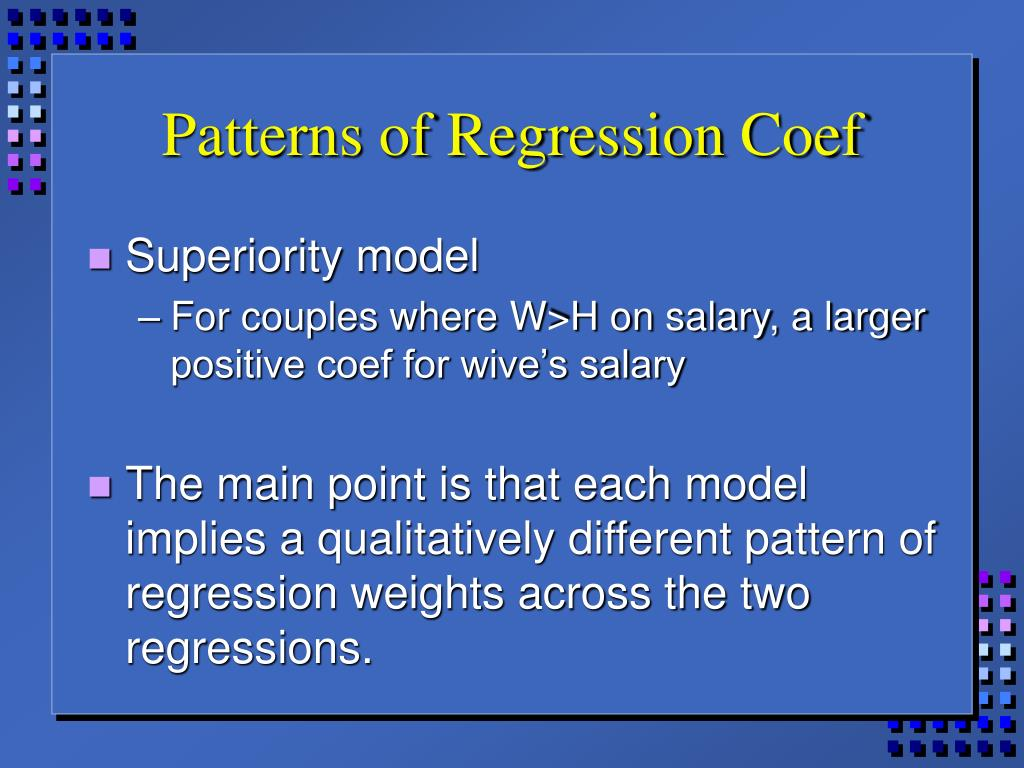 Patterns of Regression Coef