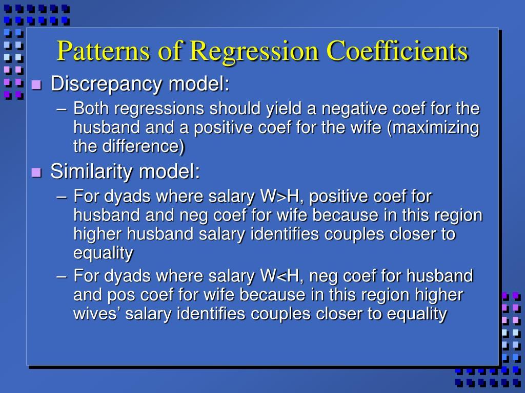Patterns of Regression Coefficients