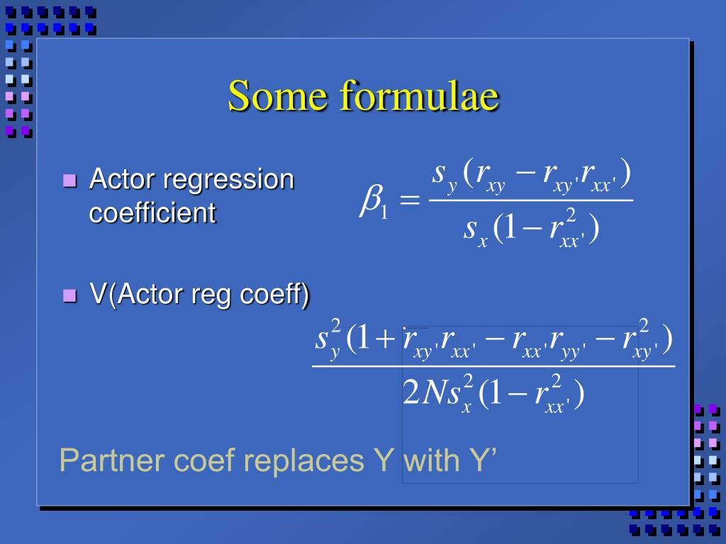 Some formulae