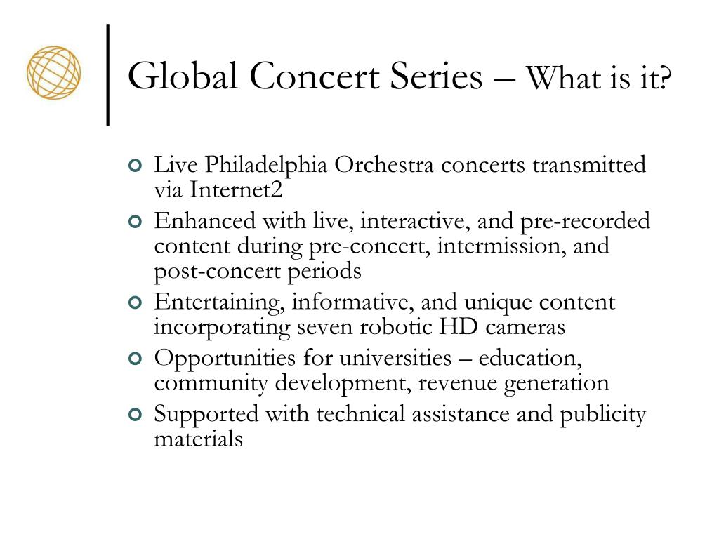 Global Concert Series –