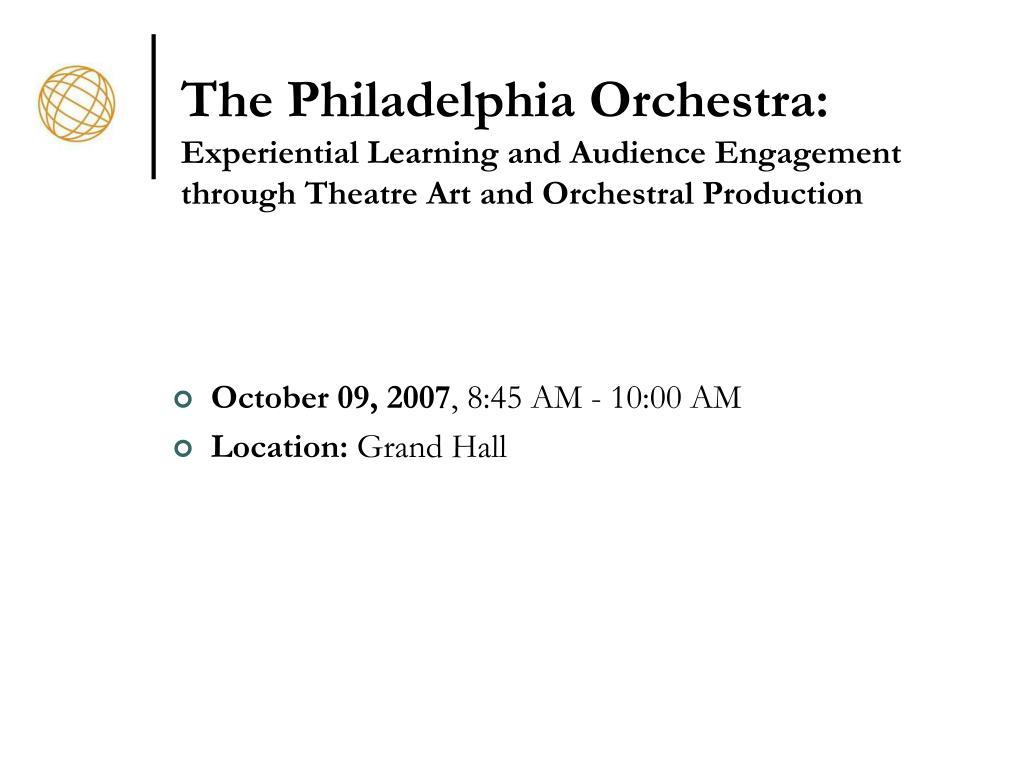 The Philadelphia Orchestra: