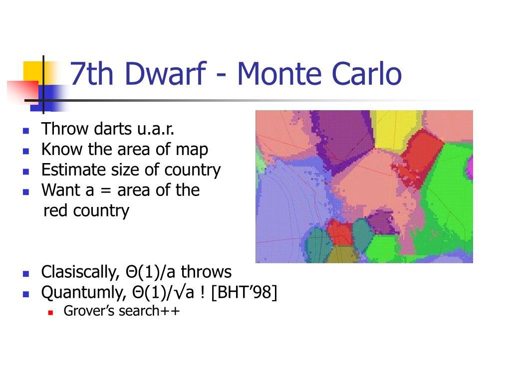 7th Dwarf - Monte Carlo