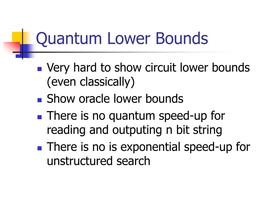 Quantum Lower Bounds