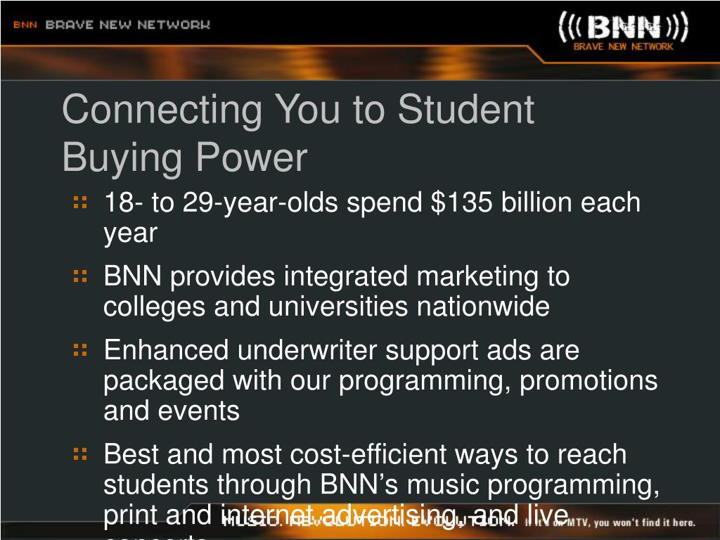 Connecting You to Student Buying Power