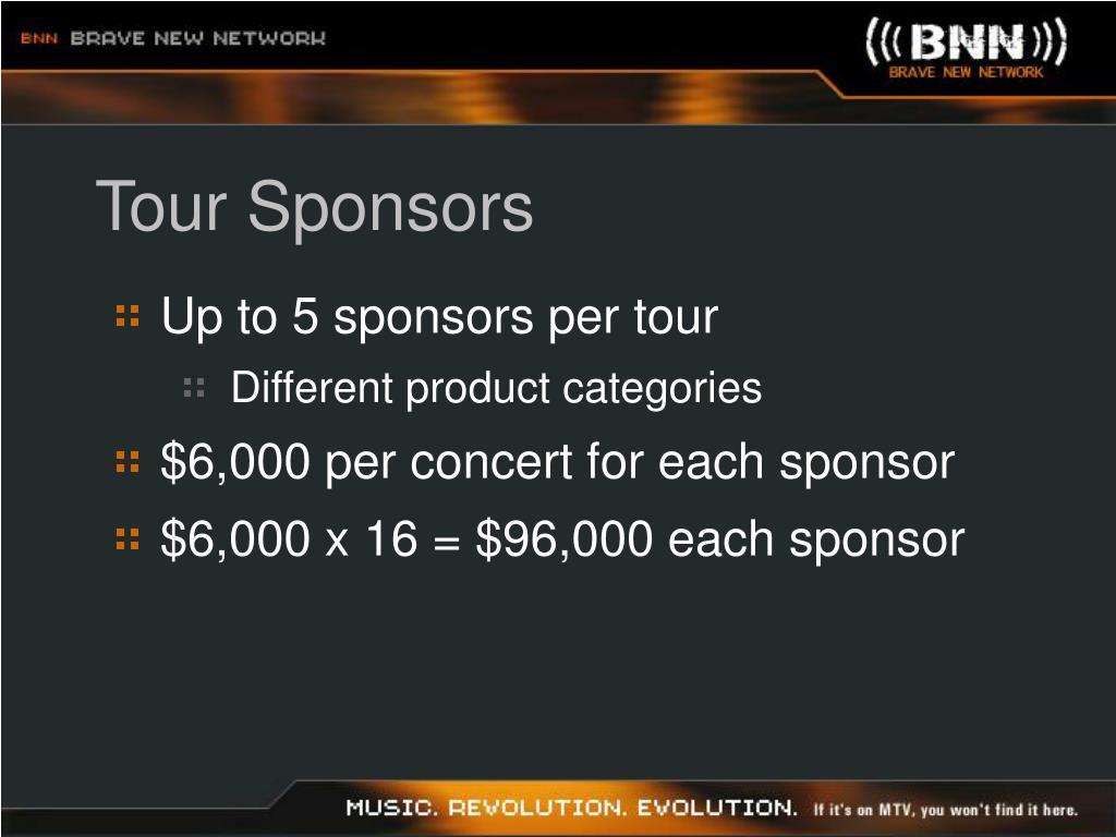 Tour Sponsors