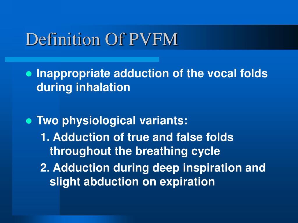 Definition Of PVFM