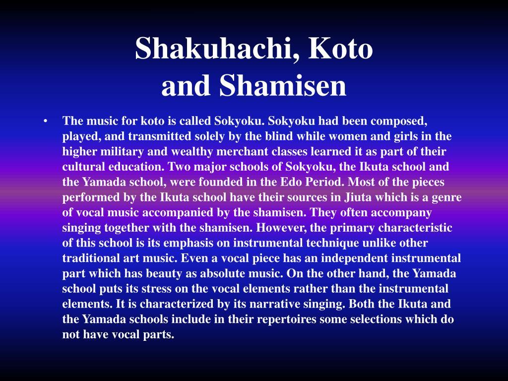Shakuhachi, Koto
