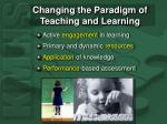 changing the paradigm of teaching and learning