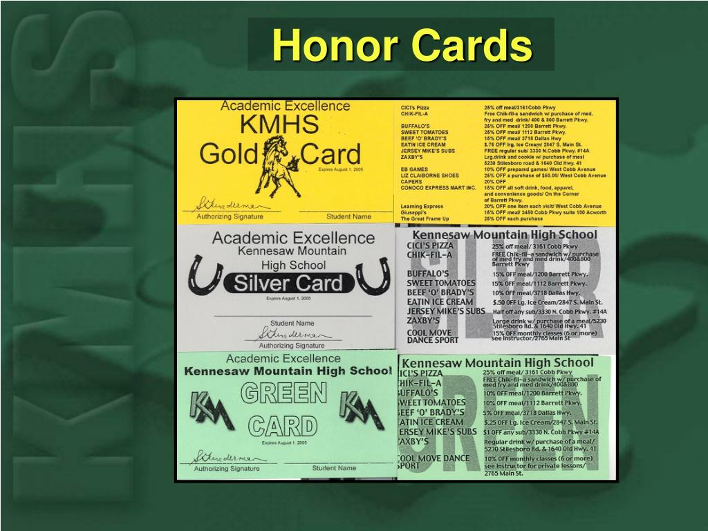 Honor Cards
