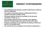 indirect synthesizers