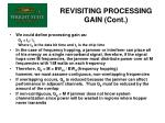 revisiting processing gain cont