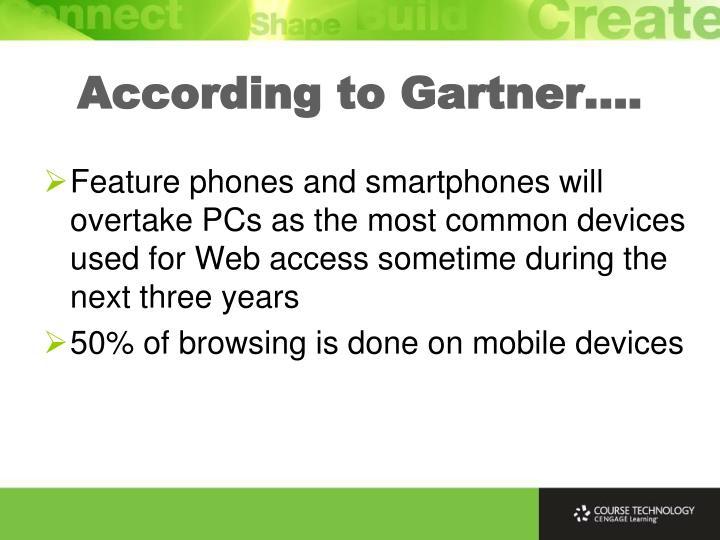 According to Gartner….