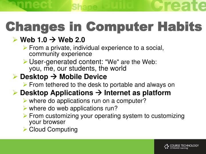 Changes in Computer Habits