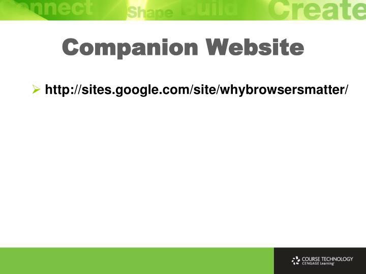 Companion Website
