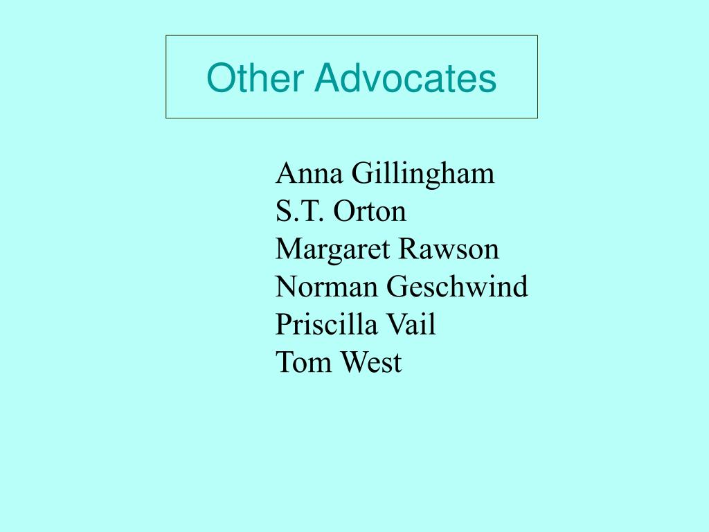 Other Advocates