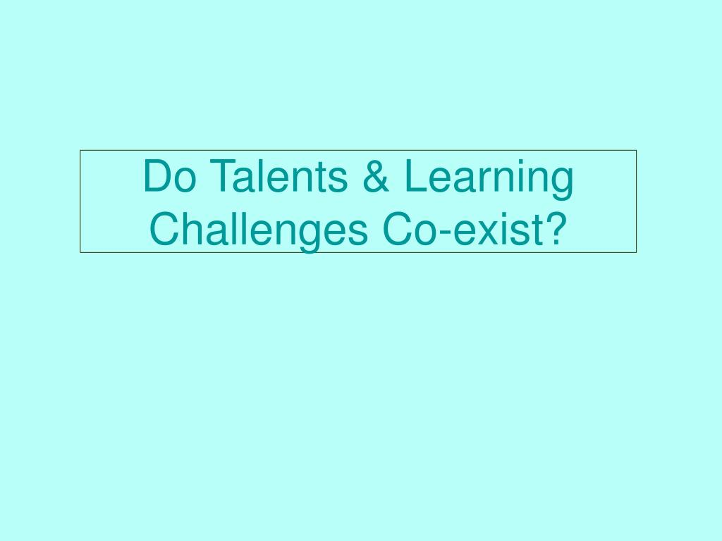 Do Talents & Learning