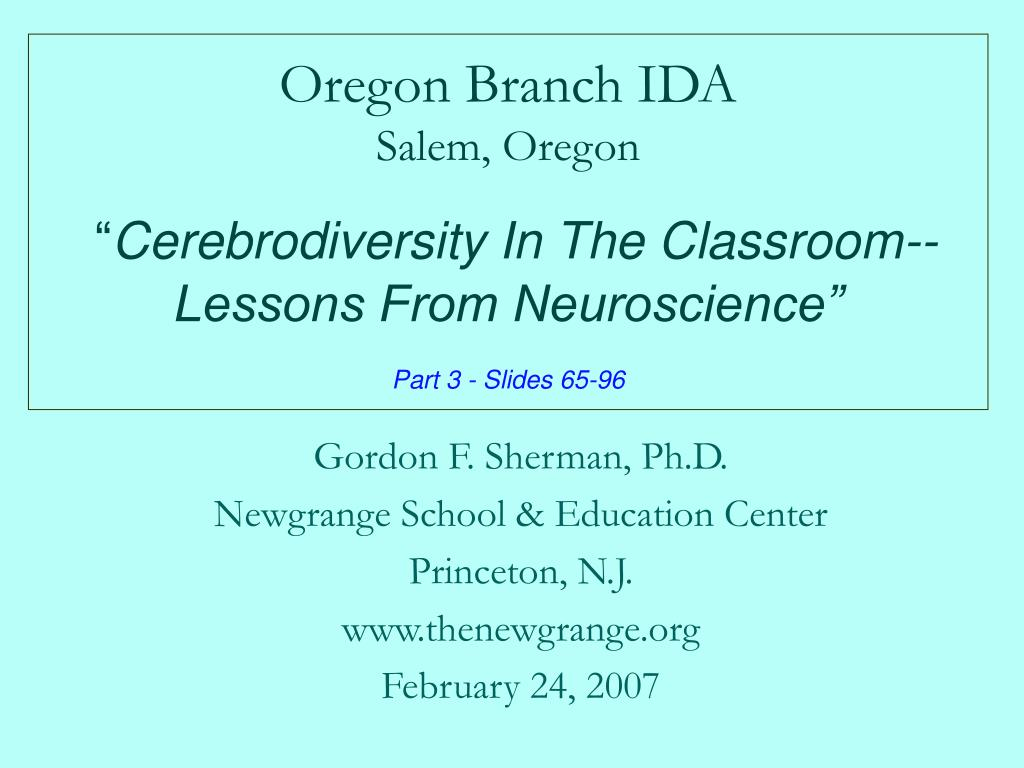 Oregon Branch IDA