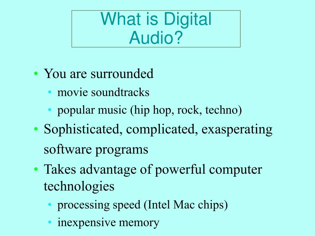 What is Digital Audio?