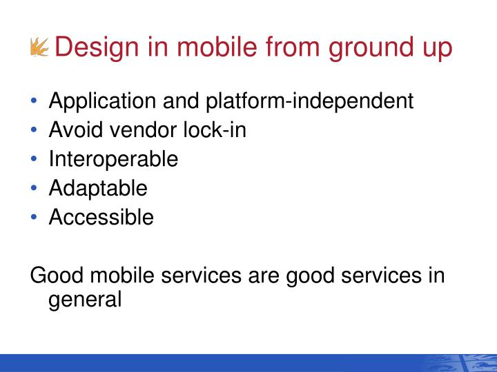 Design in mobile from ground up