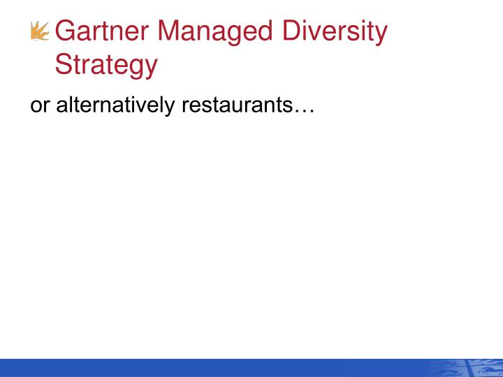 Gartner Managed Diversity Strategy