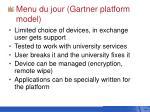 menu du jour gartner platform model