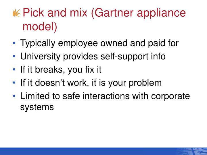 Pick and mix (Gartner appliance model)