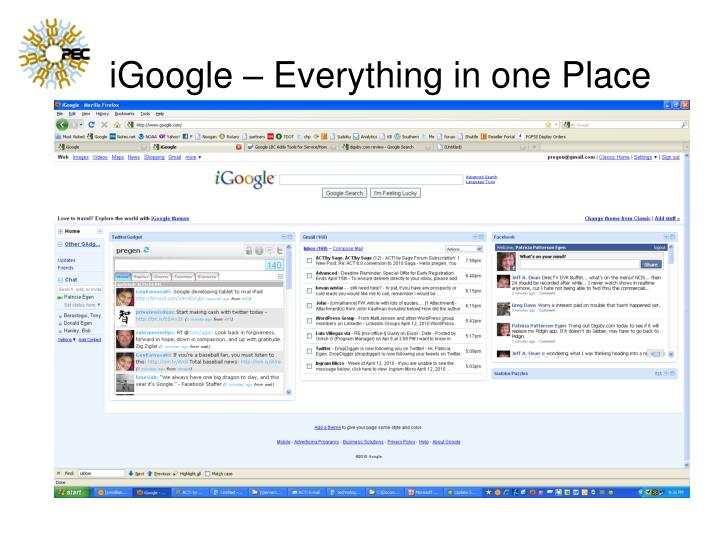iGoogle – Everything in one Place