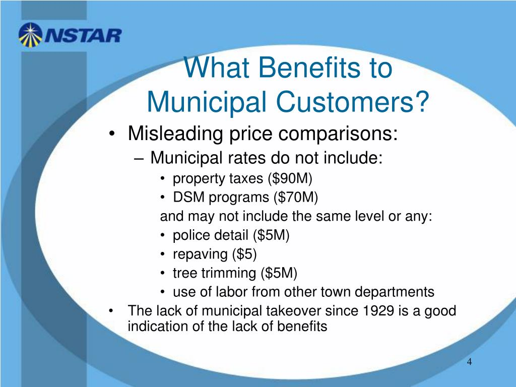 What Benefits to Municipal Customers?