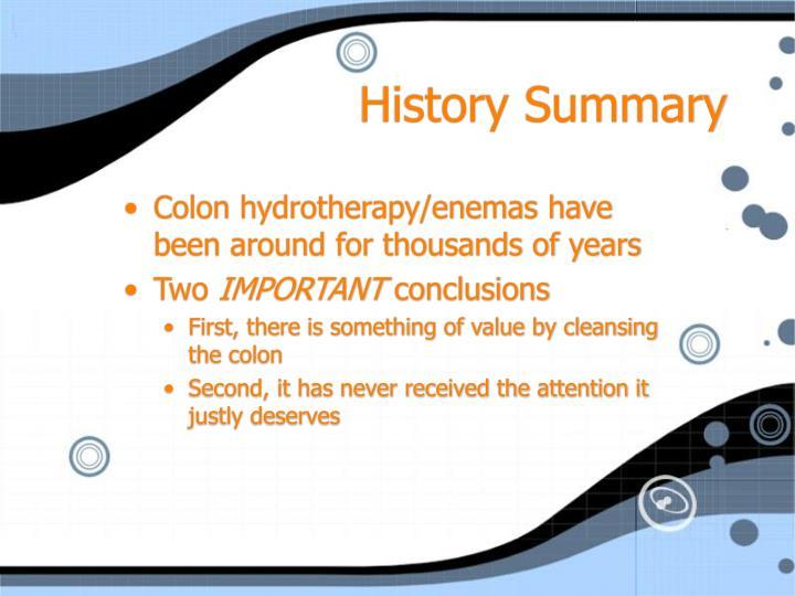 History Summary