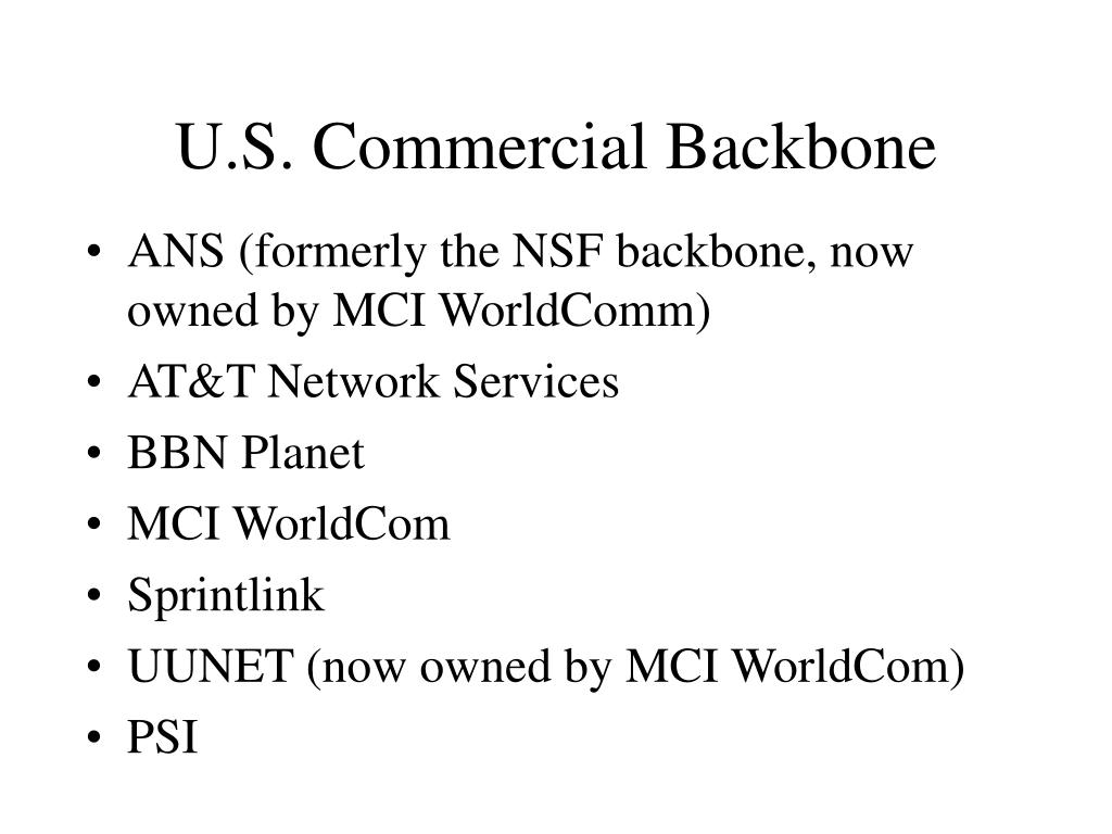 U.S. Commercial Backbone