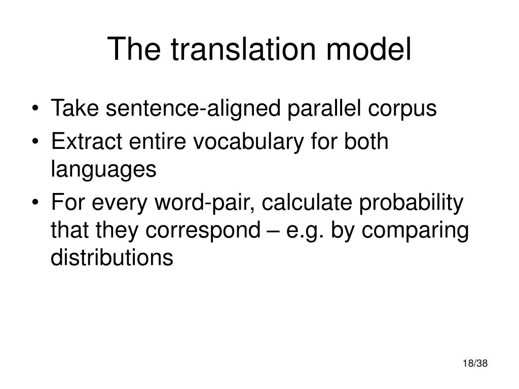 The translation model