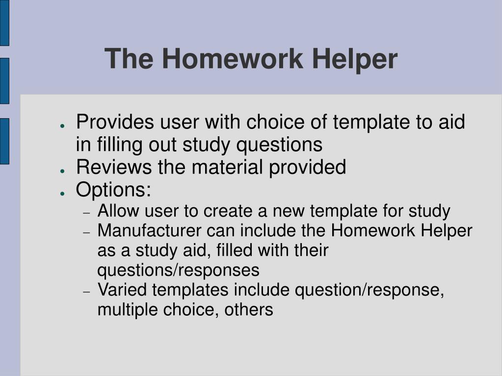 The Homework Helper