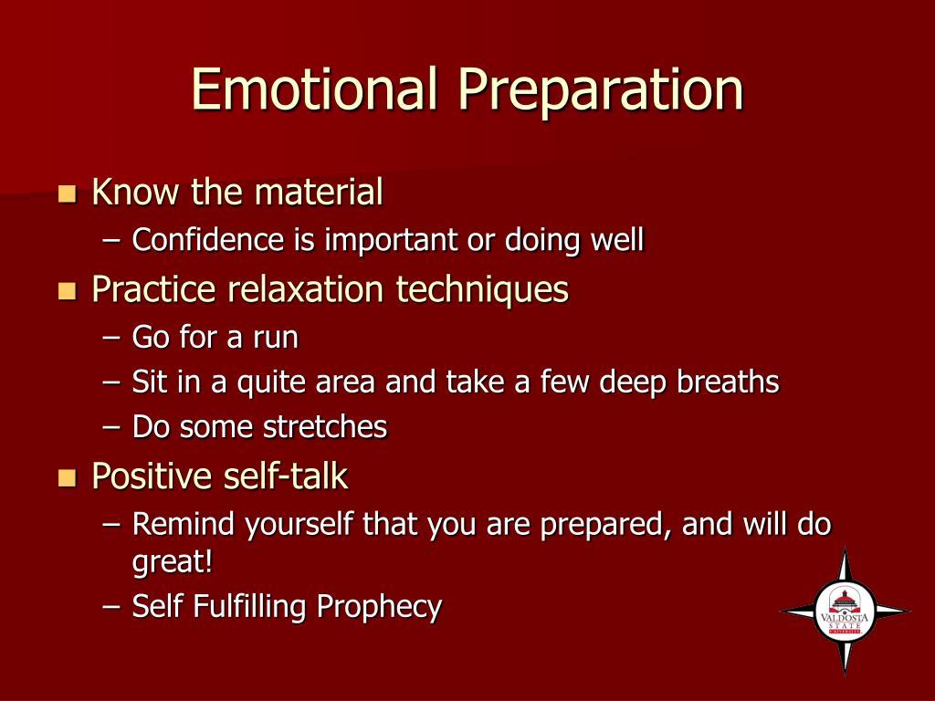 Emotional Preparation