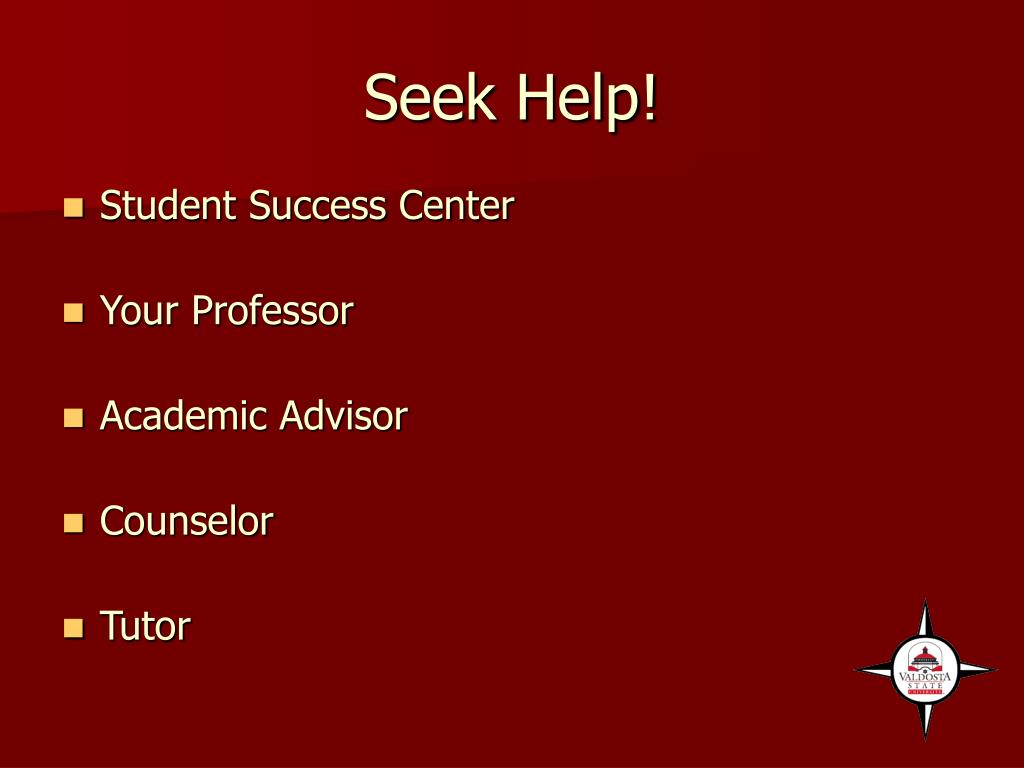 Seek Help!