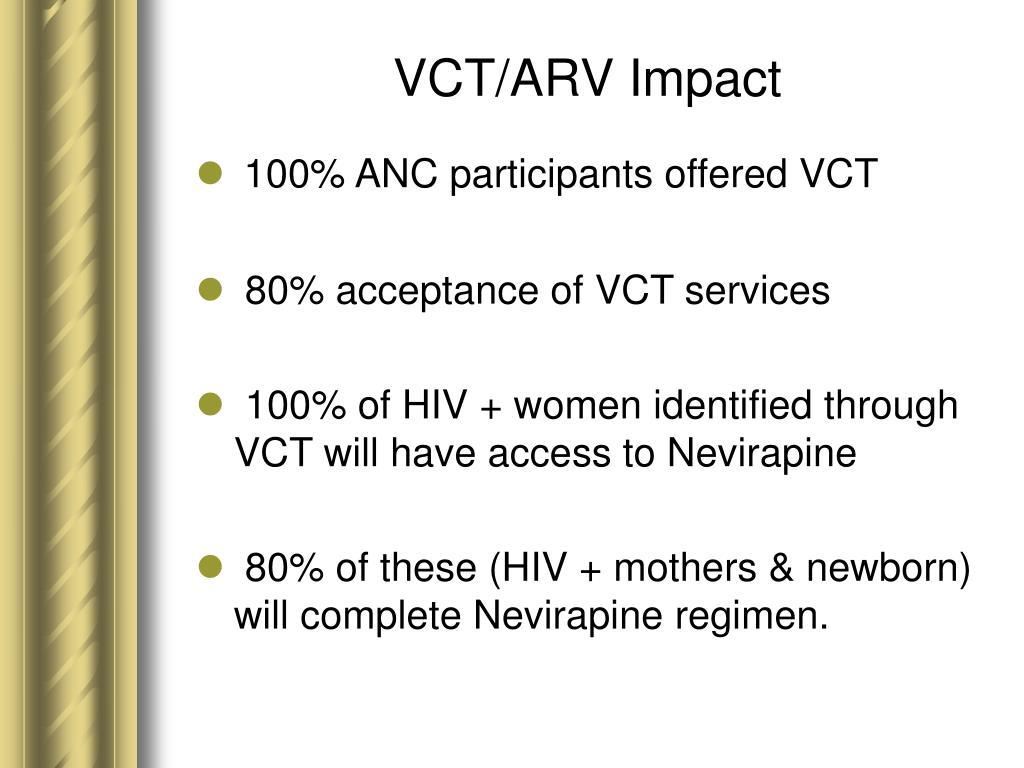 VCT/ARV Impact