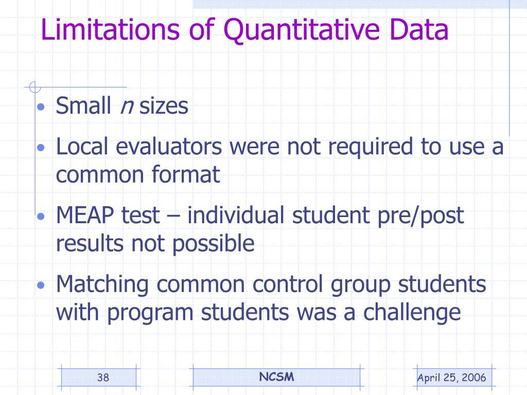 Limitations of Quantitative Data