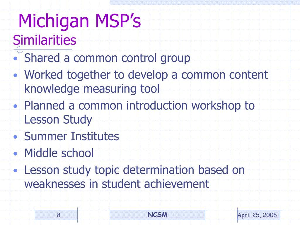 Michigan MSP's