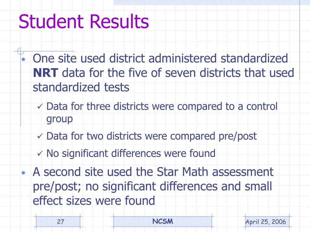 Student Results