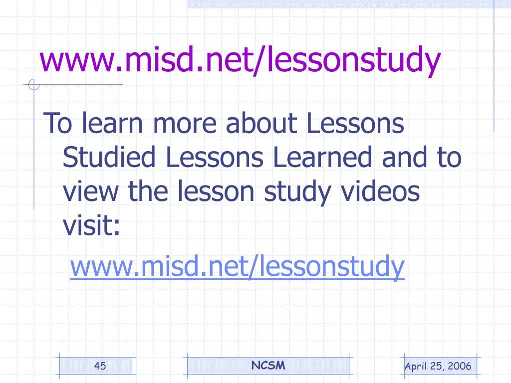www.misd.net/lessonstudy
