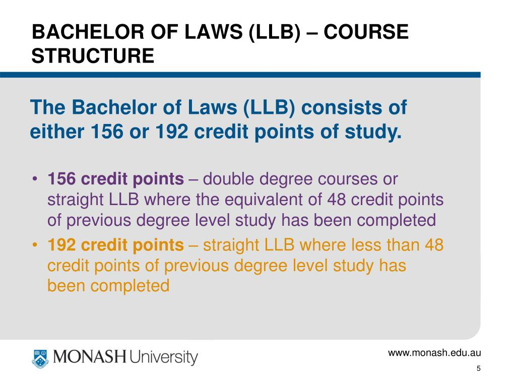 BACHELOR OF LAWS (LLB) – COURSE STRUCTURE