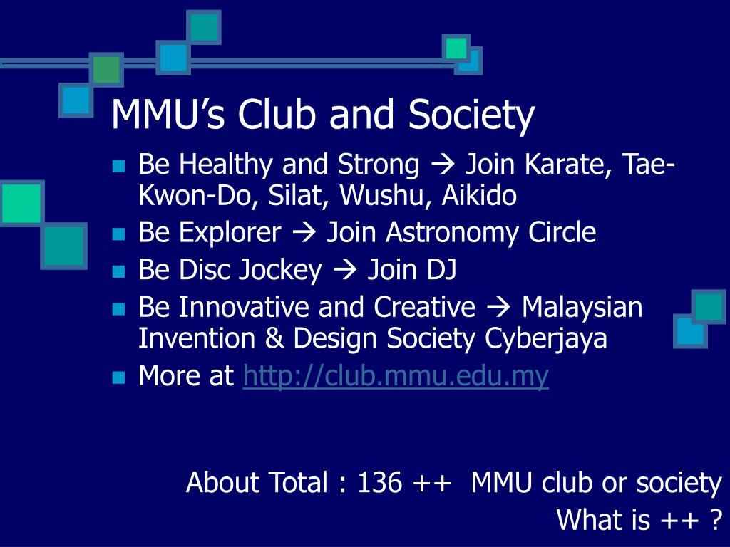 MMU's Club and Society